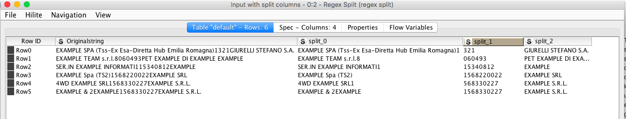 Regex for split a string in multiple parts - KNIME Analytics