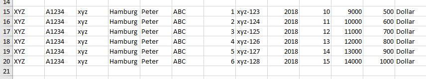 Copy Rows and paste into an existing excel file with