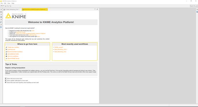 Grey Area in Knime Workflow Editor - KNIME Analytics Platform