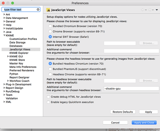 Scatter Plot View (Javascript) node produces error - KNIME