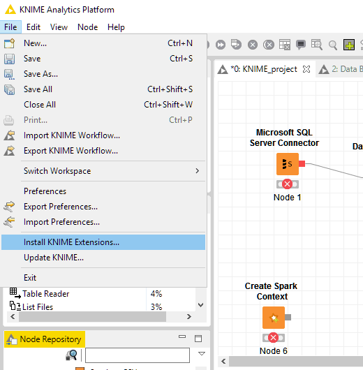 Unable to read repository KNIME_Analytics_Platform - KNIME Analytics