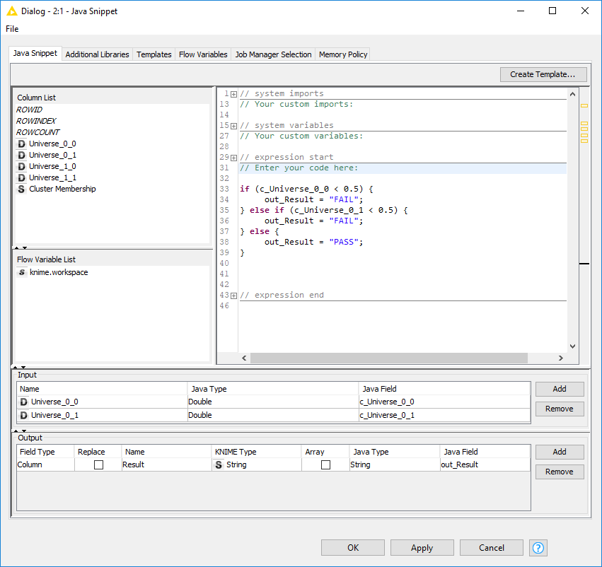 Applying an if-else condition in Knime - KNIME Analytics Platform