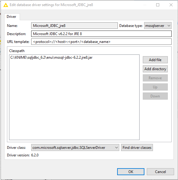DB Connector (Labs) error: driver is not configured for
