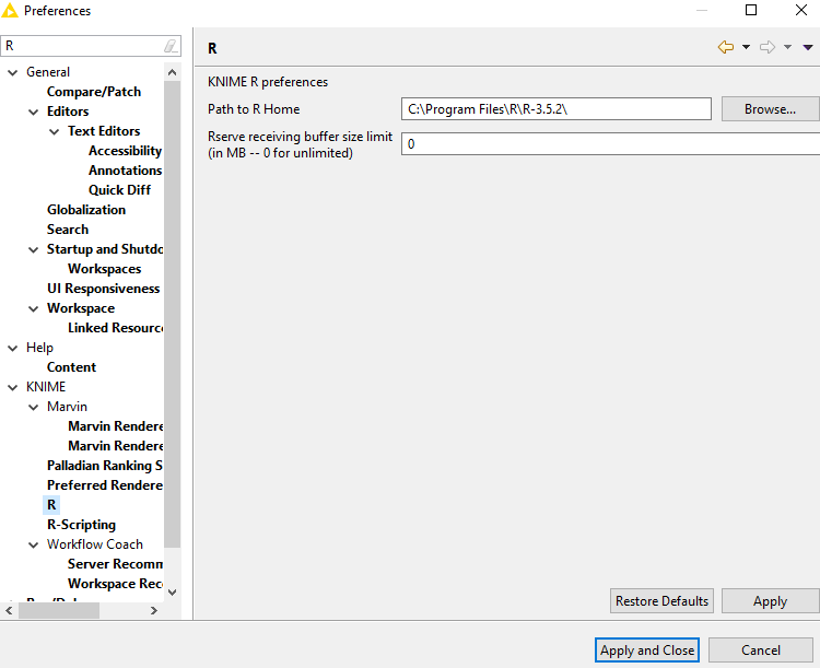 R cannot be initialized - Scripting - KNIME Community Forum