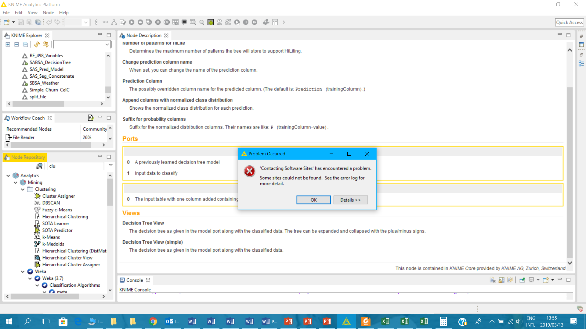 Failing to install extensions - KNIME Extensions - KNIME