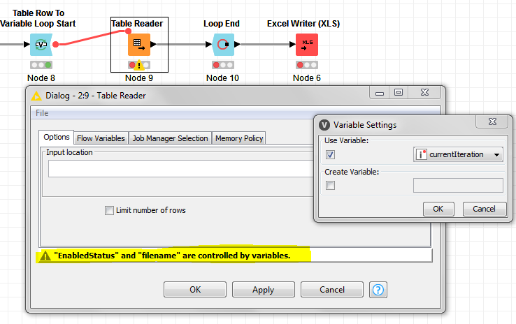 How to read multiple excel files in one folder? - KNIME