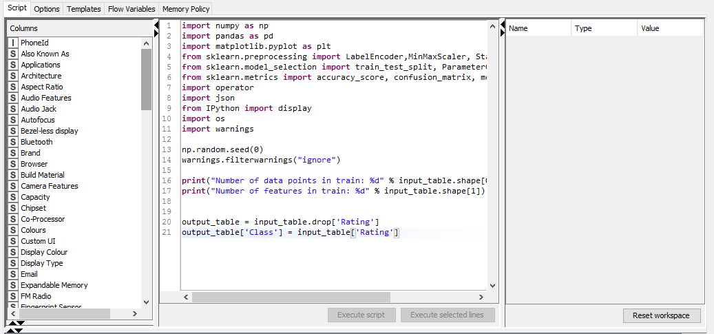 Will Knime support saving or loading the model in pickle