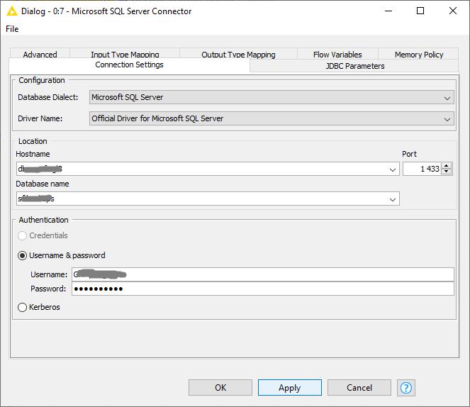 MS SQL Server connector - KNIME Analytics Platform - KNIME Community