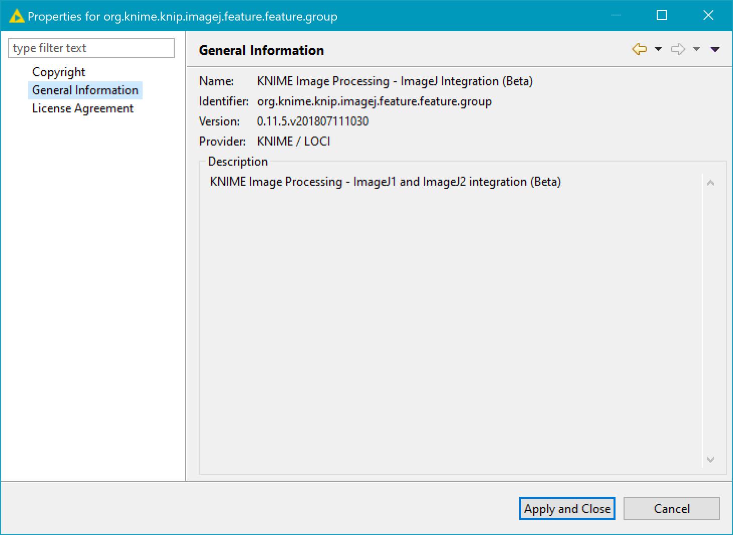 ImageJ(beta) version
