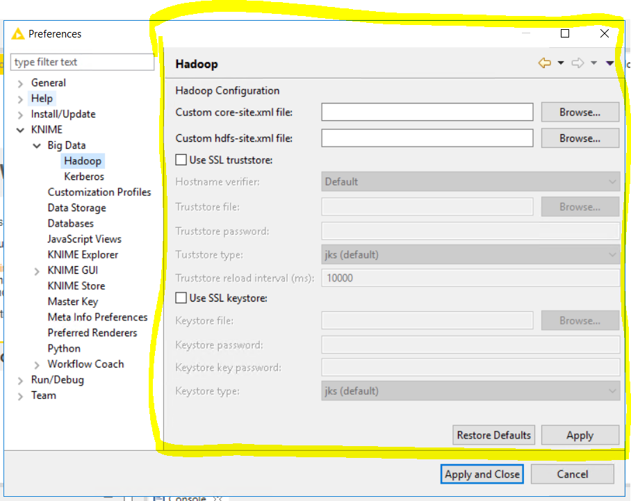 Hadoop/Impala with Windows Authentication - Big Data - KNIME
