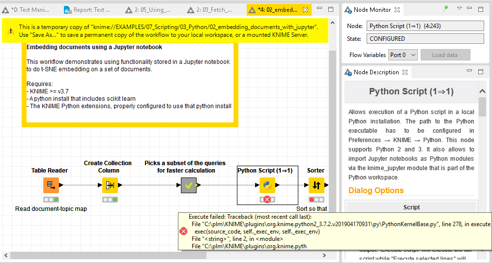 Python Extension not recognizing Anaconda environment in Knime 3 7
