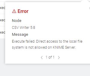 local file system not  allowed